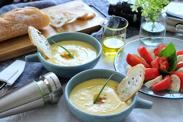 濃厚レシピ!とうもろこしの冷製スープ