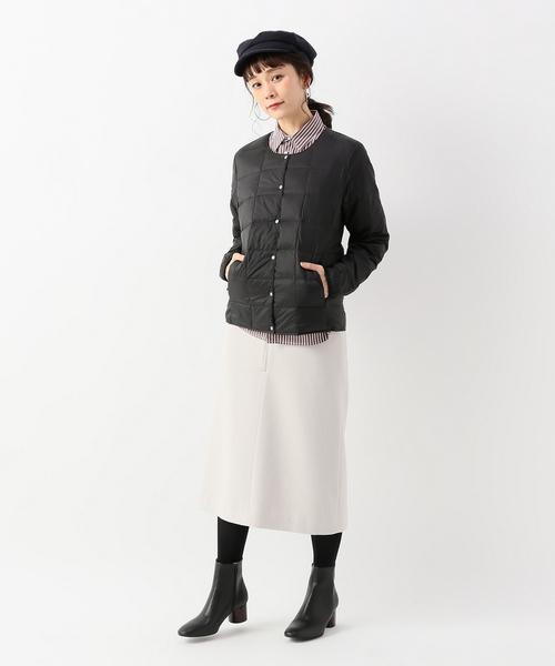Iラインスカート×帽子のレディース冬コーデ