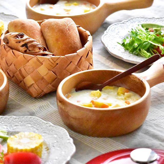 ホタテとさつま芋のクラムチャウダー