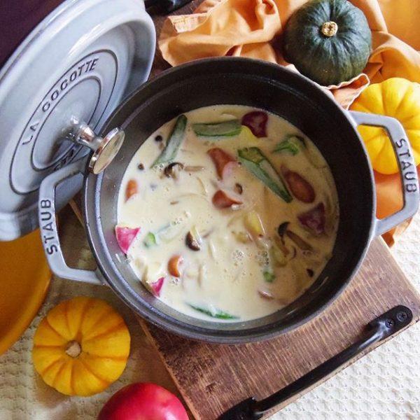 旬の野菜で♪和風パスタに合うスープ