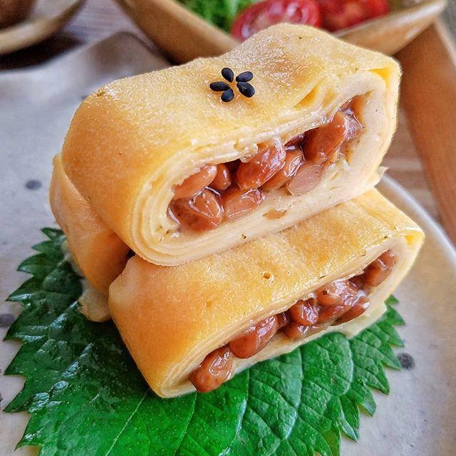 たけのこご飯におすすめ納豆の卵巻き