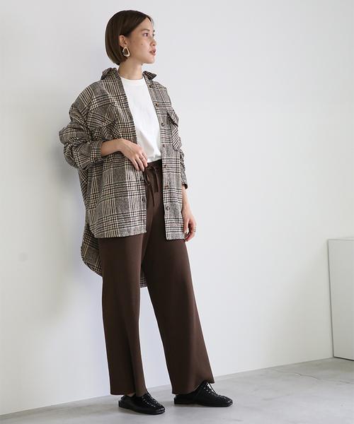[select MOCA] 厚手起毛チェックCPOジャケット/オーバーサイズルーズシルエットジャケットシャツ