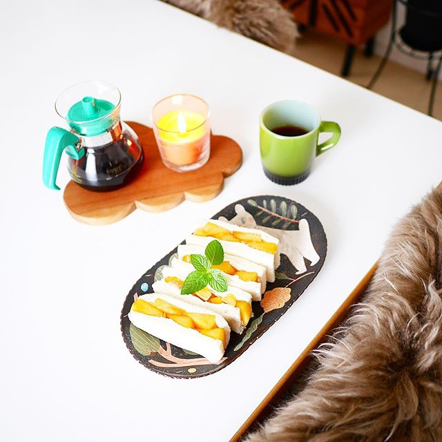 簡単料理!柿とマスカルポーネのサンドイッチ