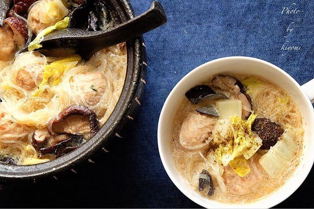 ピェンロー鍋風で!食べる豆乳スープ