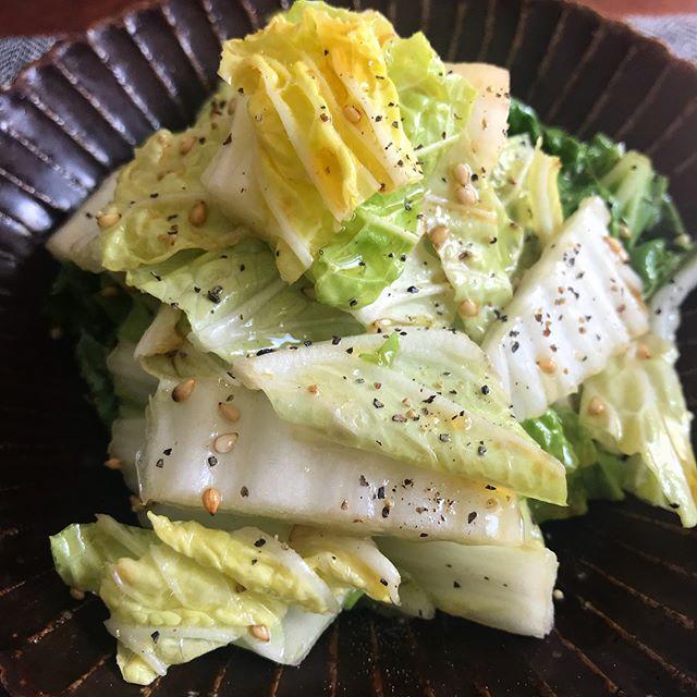簡単な夕飯のメニューに。やみつき白菜