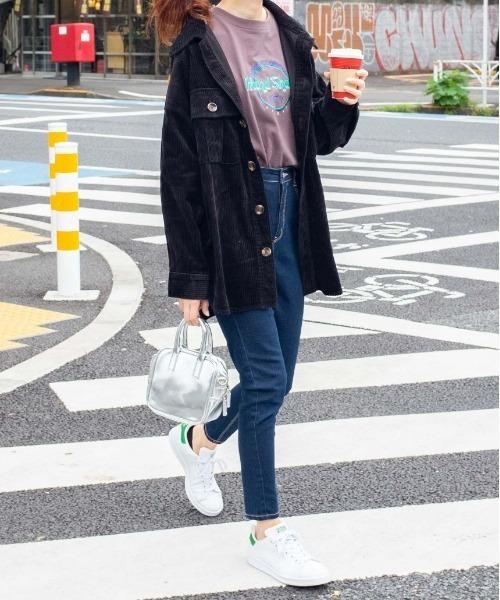 [WEGO] WEGO/【WEB限定】【セットアップ対応商品】ビッグシルエットコーデュロイCPOシャツジャケット