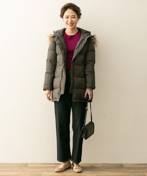 [URBAN RESEARCH ROSSO WOMEN] F by ROSSO ファー付ロングダウンコート