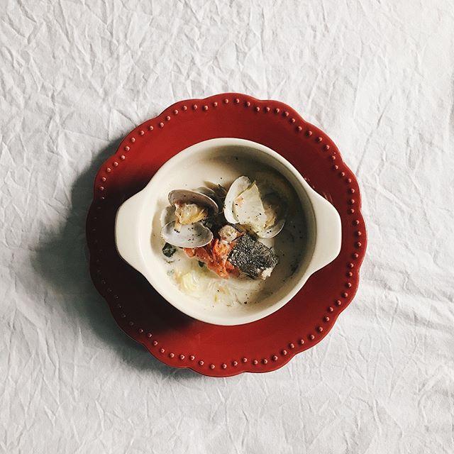 麻婆豆腐のメニューに!クラムチャウダー