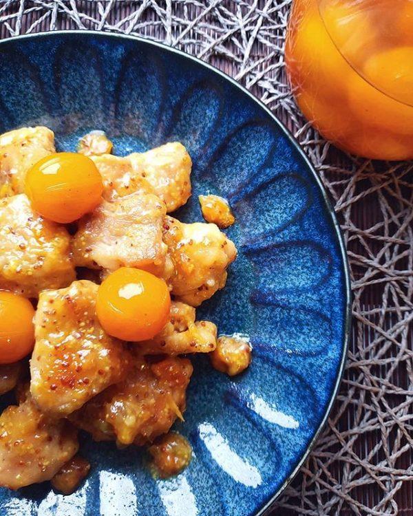 おすすめ!金柑とチキンの粒マスタード焼き