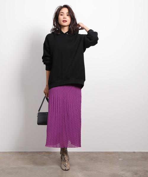 [ROPE'] 変形プリーツスカート