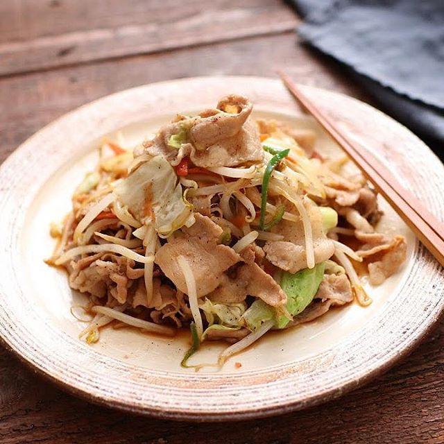 中華の簡単献立!肉野菜炒め