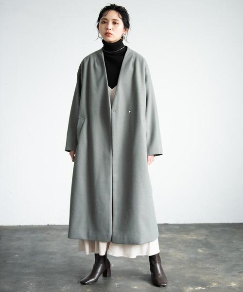 ショートヘアに似合う冬の服装|ワンピース2