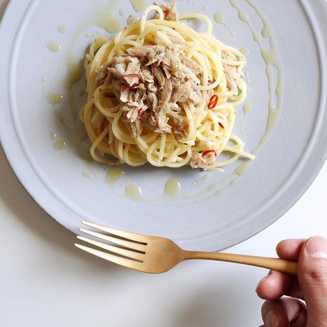 旨味たっぷり!ツナのペペロンチーノ