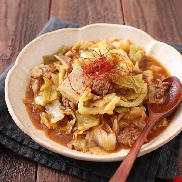 お手軽料理!キャベツの麻婆豆腐
