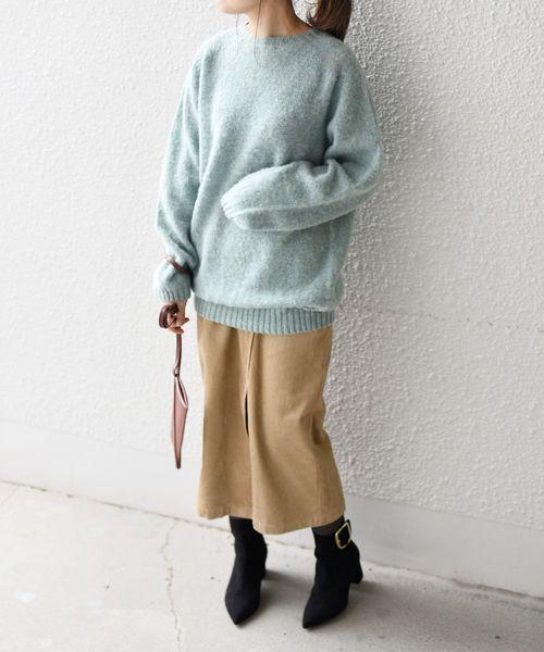 SHIPSコーデュロイスリットスカート