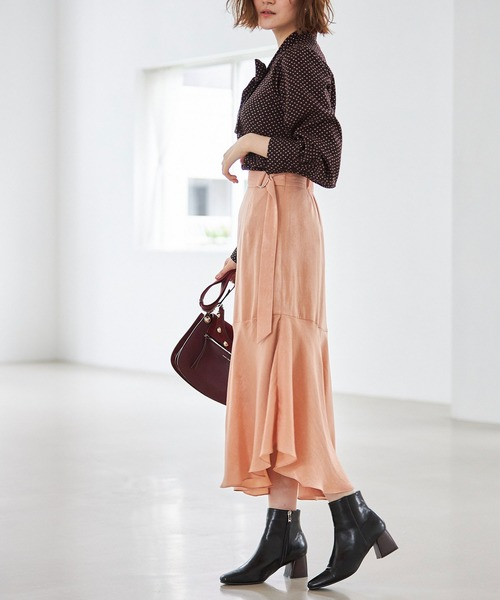 [tocco closet] ビンテージサテンイレギュラーヘムスカート
