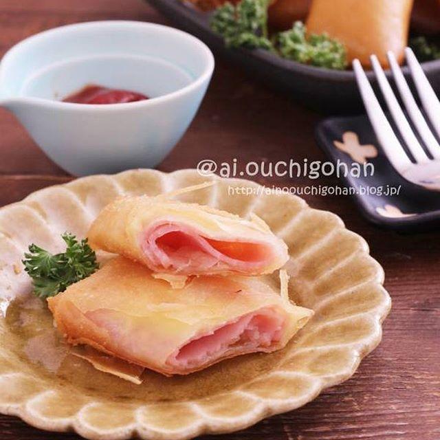 パリッと美味しい人気のハムチーズ巻き