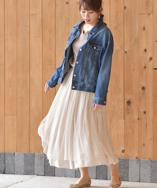 [rps] サテン×ラメチュールリバーシブルスカート