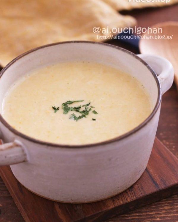 簡単にできるコーンポタージュスープ