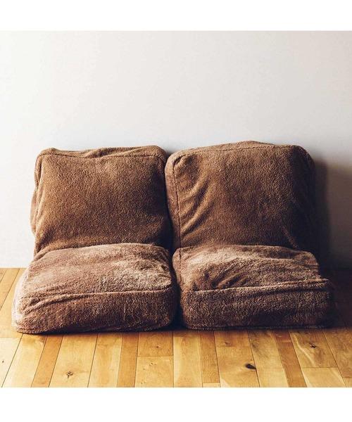 [FELISSIMO] 古着屋さんで見つけたような 布団収納あったかボアザブトン〈くまブラウン〉