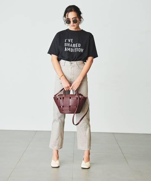 3段ロゴTシャツ