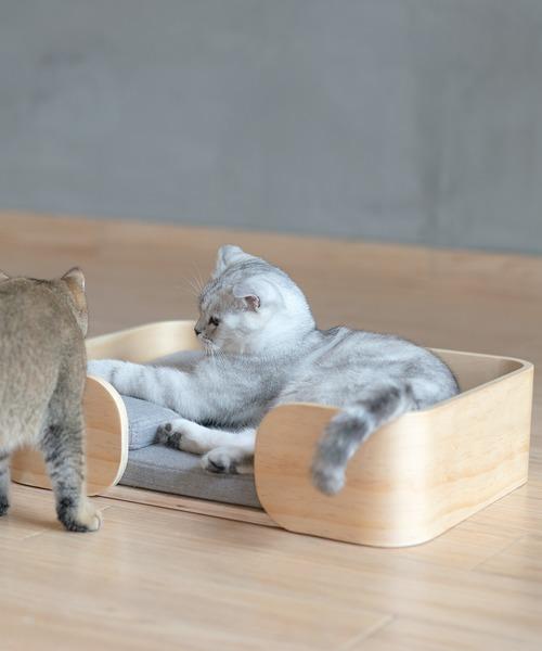 [KYOETSU HONTEN] 「pidan/ピダン」猫用ベッド レクタングル 木製