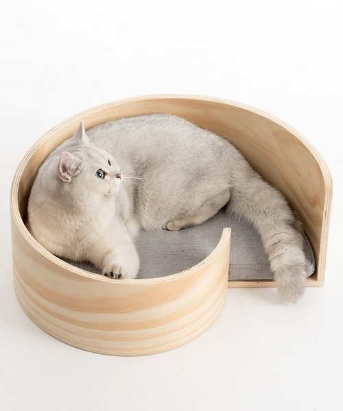 [KYOETSU HONTEN] 「pidan/ピダン」猫用ベッド スパイラル 木製