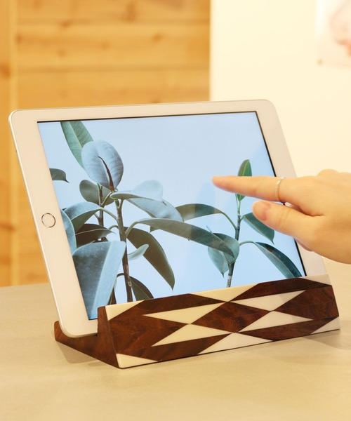 [Global Forme Concrete] WOOD IPAD STAND タブレット スタンド