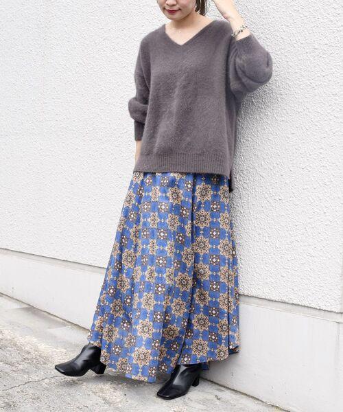 [SHIPS for women] 【別注】UHURU オリジナルプリントスカート◆
