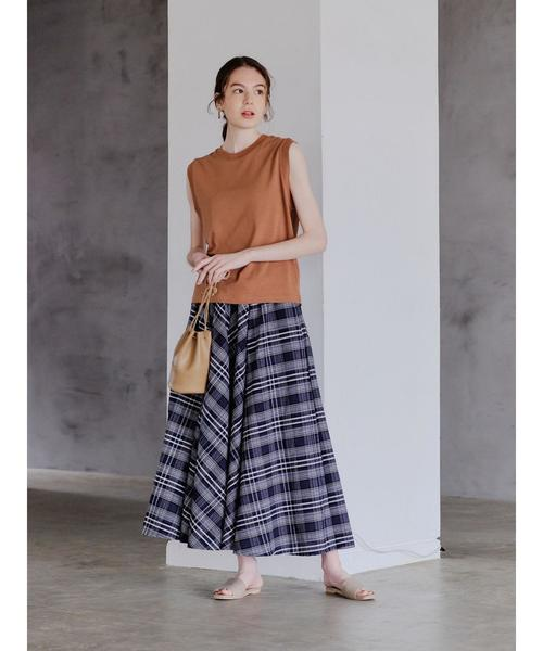 [SEVENDAYS=SUNDAY] チェックギャザースカート*