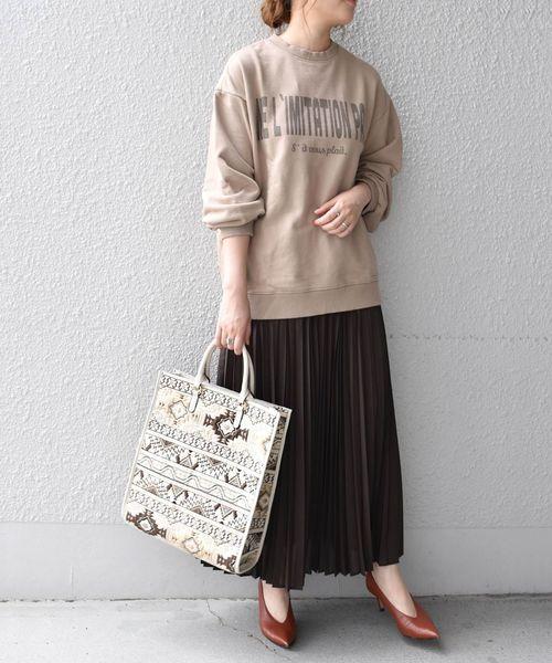 [SHIPS for women] SHIPS any:スパンボイルプリーツスカート◇