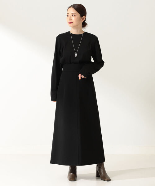ATON / ウールデニム Aラインスカート