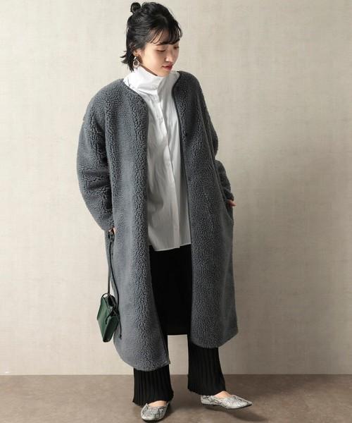 ショートヘアに似合う冬の服装|パンツ5