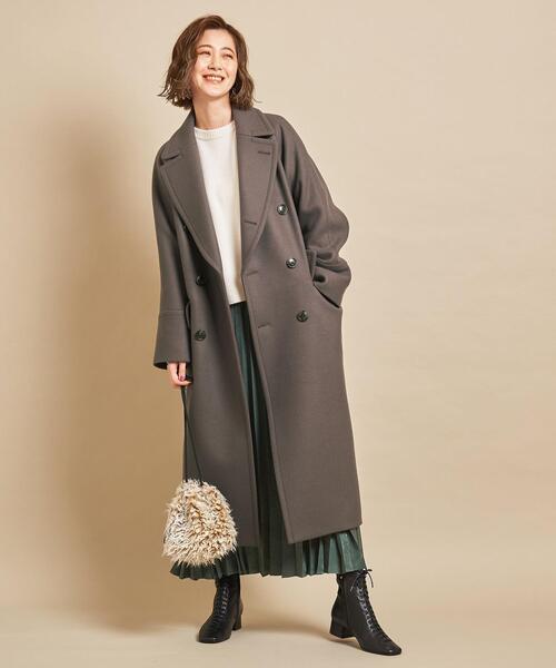 ショートヘアに似合う冬の服装|スカート2