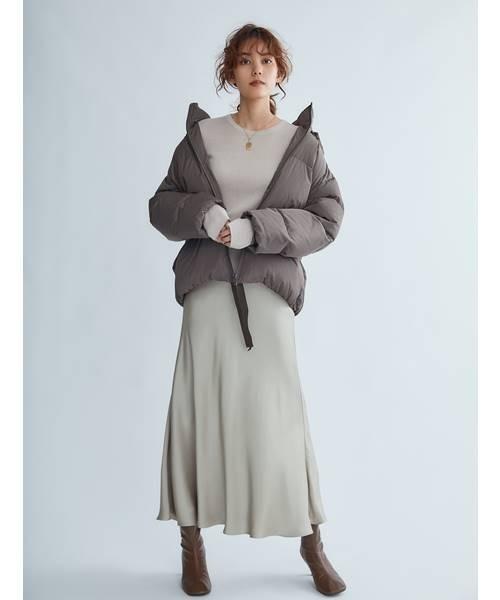 [Mila Owen] 裾リボンダウンジャケット