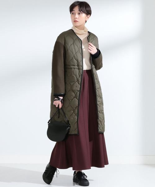 [BEAMS WOMEN] Ray BEAMS / 袖キリカエ キルティング コート