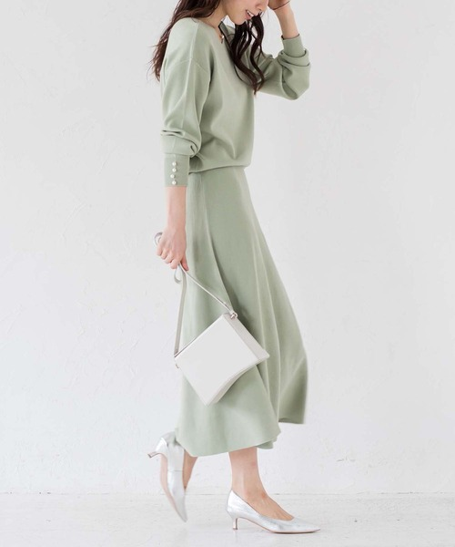 Loungedress] 【WEB限定】総針ニットセットアップ