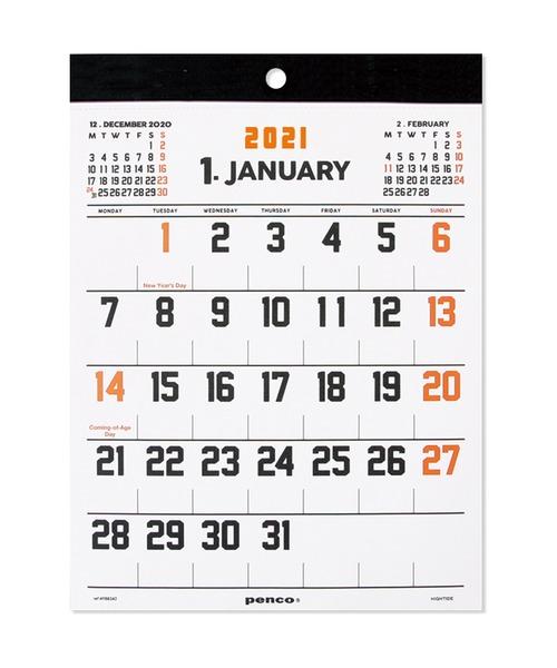 [HIGHTIDE] ハイタイド 2021年 カレンダー PENCO ペンコ カレンダー O/S A5