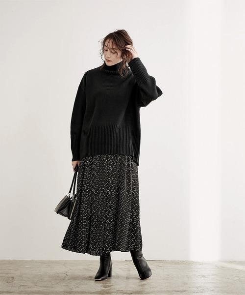 [ur's] サテンギャザースカート