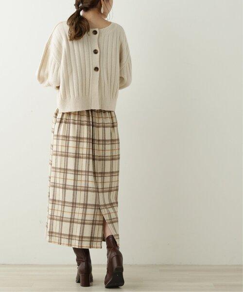 [Ray Cassin] ダブルボタンチェックナロースカート