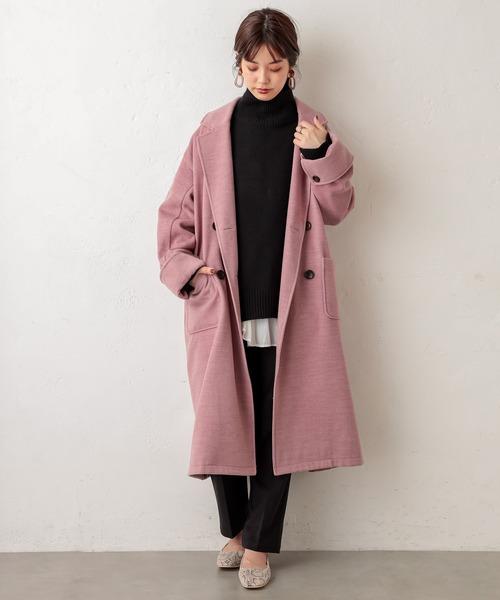[natural couture] 杢調オーバーサイズコート