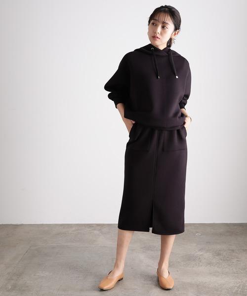 【田中みな実さん着用】【スフレタッチ】ダンボールニットタイトスカート