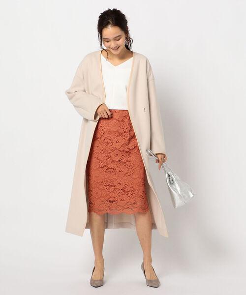 [NOLLEY'S] ラッセルレースタイトスカート
