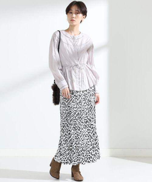 [BEAMS WOMEN] Ray BEAMS / アニマル プリント プリーツ スカート