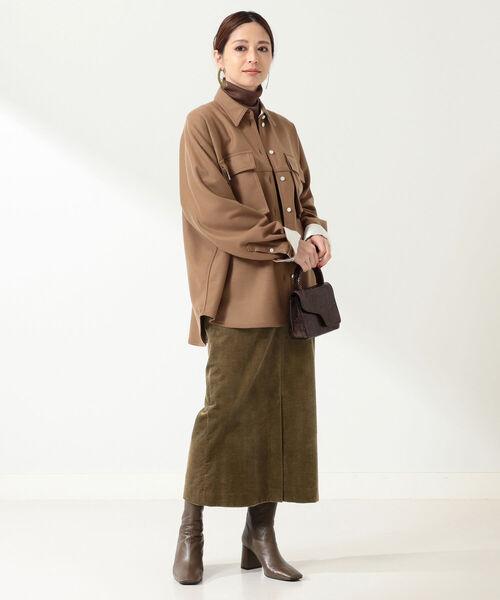 [BEAMS WOMEN] Demi-Luxe BEAMS / コーデュロイ ロングスカート