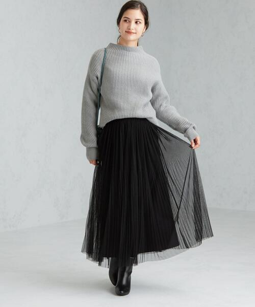 [green label relaxing] CFC チュール フェード プリーツ スカート