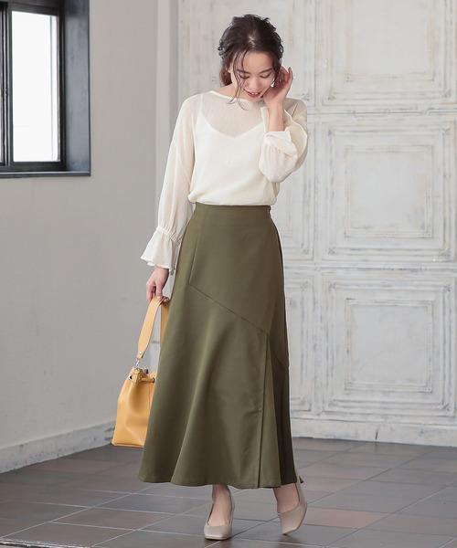 [kobelettuce] アシンメトリー切り替えマーメイドスカート