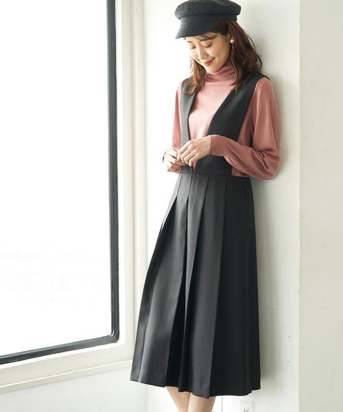 [ROPE' PICNIC] プレスタックジャンパースカート