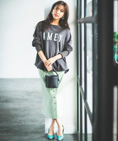 [BABYLONE] コーデュロイタイトスカート