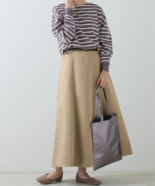[Ray Cassin] ベルト付きサテンスカート